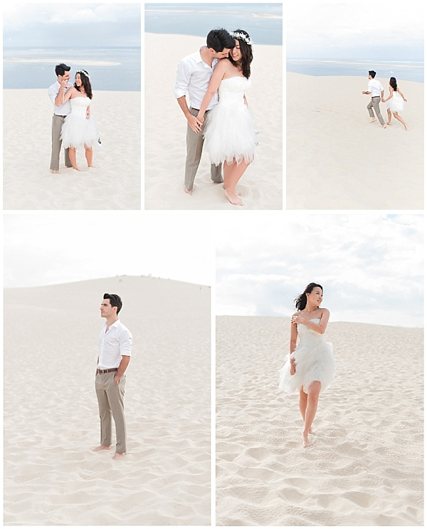 French Destination Wedding Morning Beach Shoot Snampshot