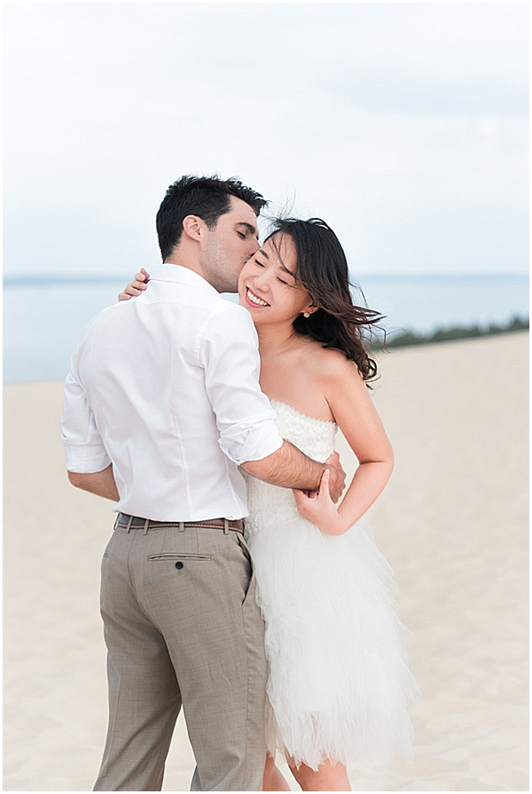 French Destination Wedding Sand Dune Shoot