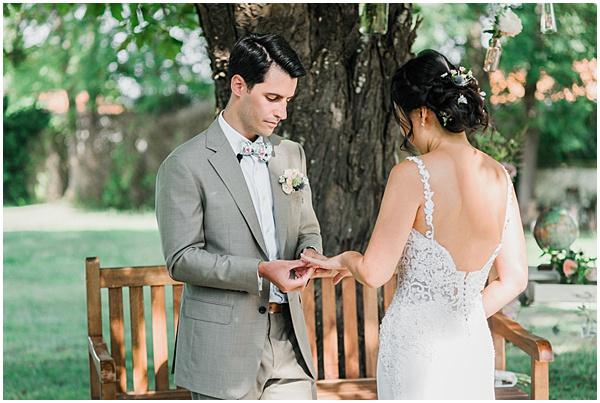 French Destination Wedding Wedding Rings