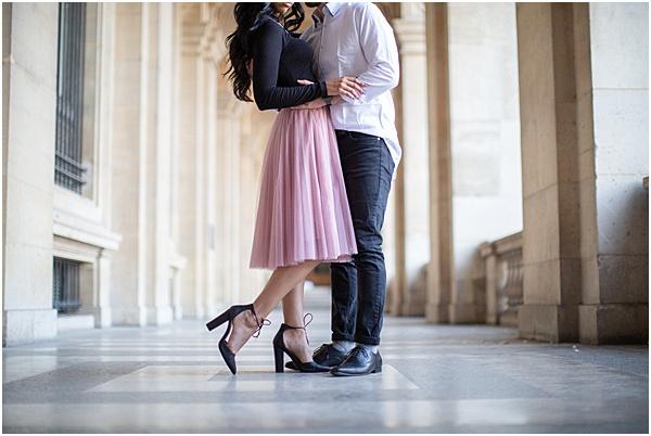 Honeymoon Shoot in Paris Near the Louvre