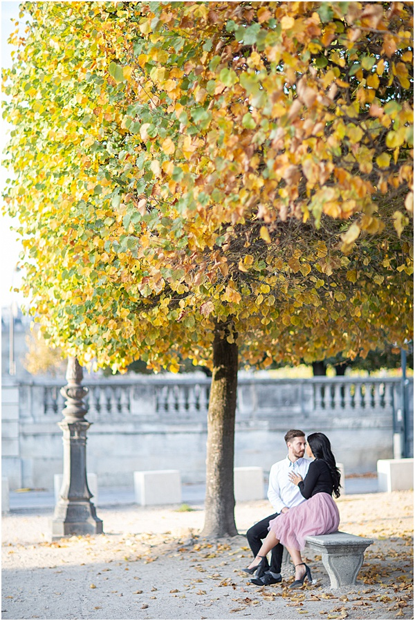 Honeymoon Shoot in Paris staring into each others eyes