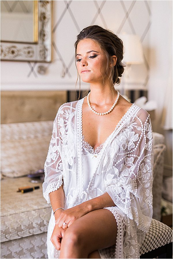 Lacey robe at Cap d' Antibes wedding