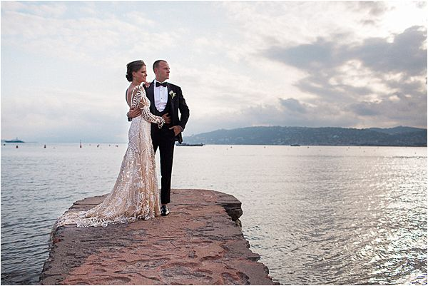 Lovely couple at Cap d' Antibes wedding
