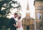 Lovely couple at Elegant French Chateau Wedding