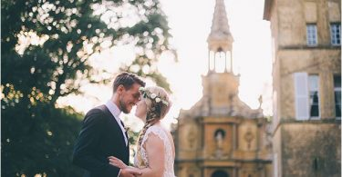 Lovely couple at Elegant French Chateau Wedding