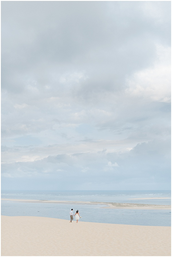 Morning Beach Shoot French Destination Wedding
