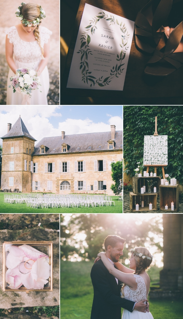 Snapshot at Elegant French Chateau Wedding