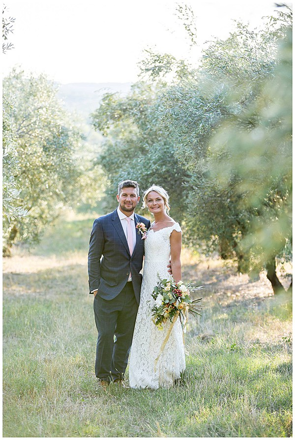 The Happy Couple after their Wedding in Languedoc Rousillion