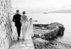 The couple at Cap d' Antibes wedding