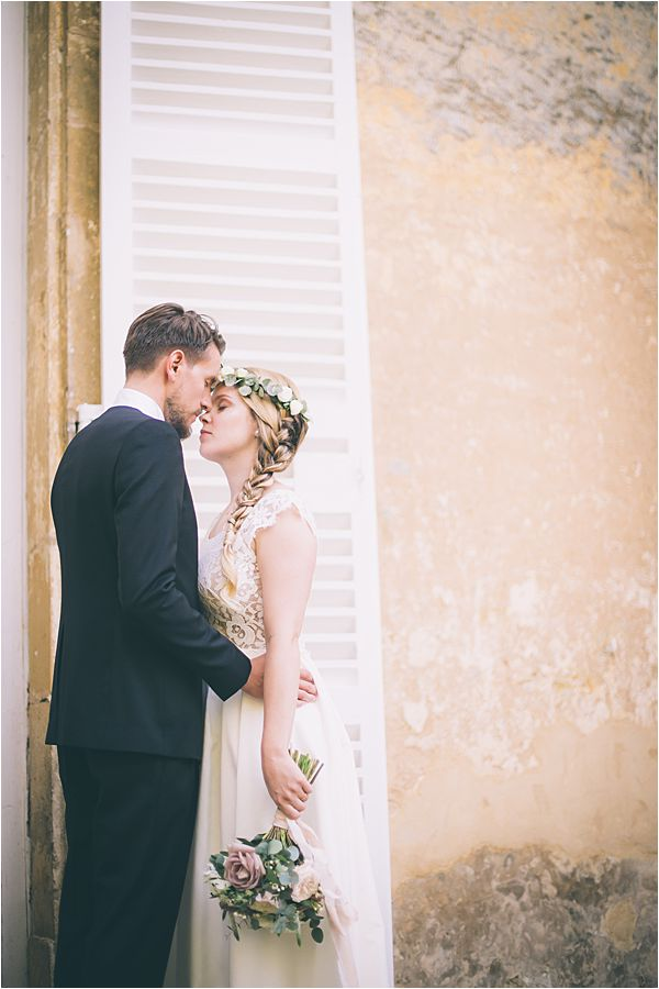 The couple at Elegant French Chateau Wedding