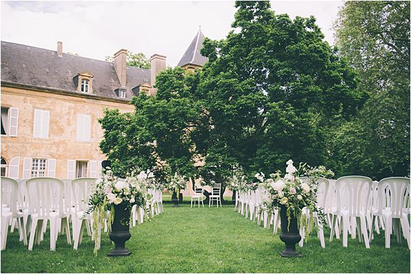 Venue of Elegant French Chateau Wedding