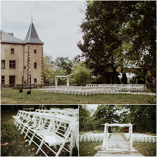 Wedding in Alsace Ceremony set up