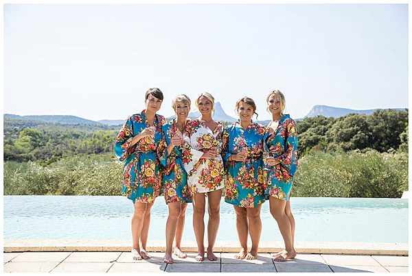 Wedding in Languedoc Rousillion Bride and Bridesmaids
