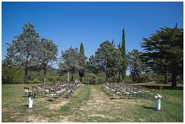 Wedding in Languedoc Rousillion Ceremony Area