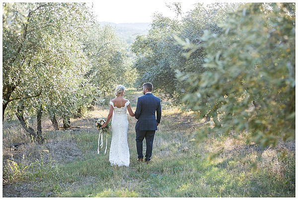 Wedding in Languedoc Rousillion Stolling in the Olive groves