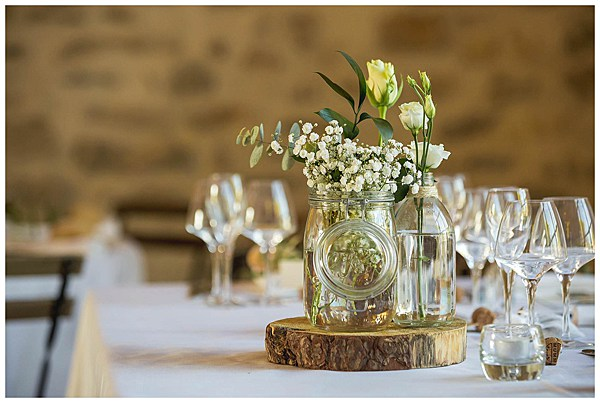 Wedding in Languedoc Rousillion Table Centre