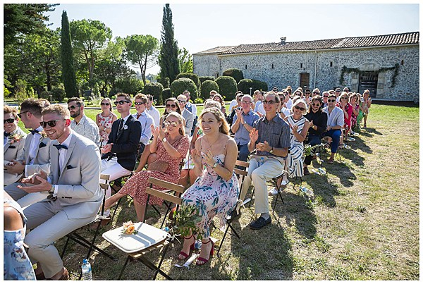Wedding in Languedoc Rousillion Wedding guests
