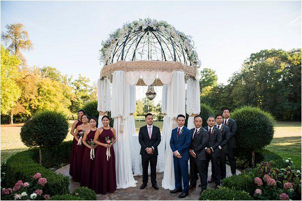 gazebo wedding alter in France by Janis Ratnieks Photography