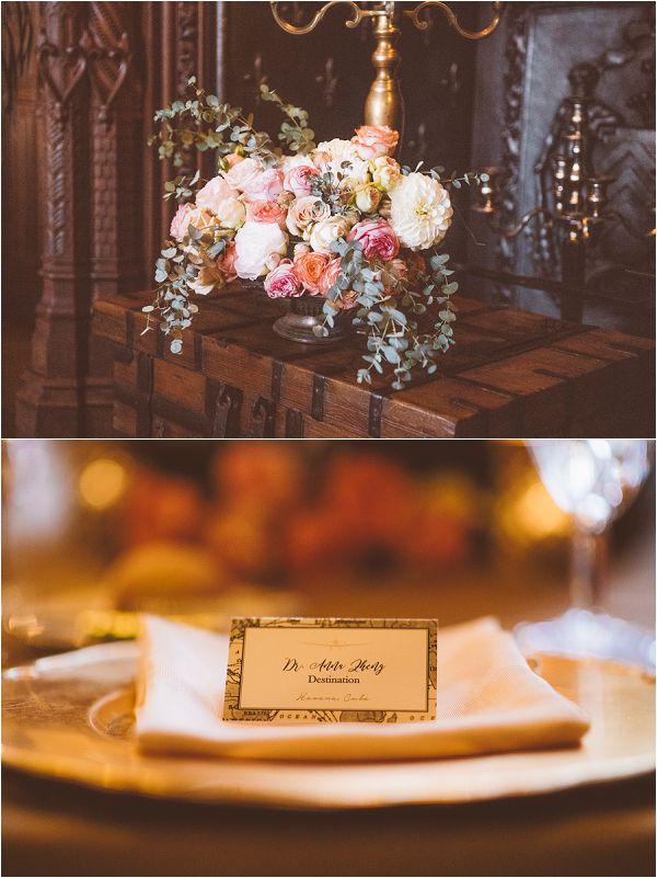 luxury castle wedding decor ideas by Janis Ratnieks Photography