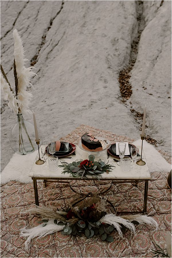 romantic table set up at international wedding photography