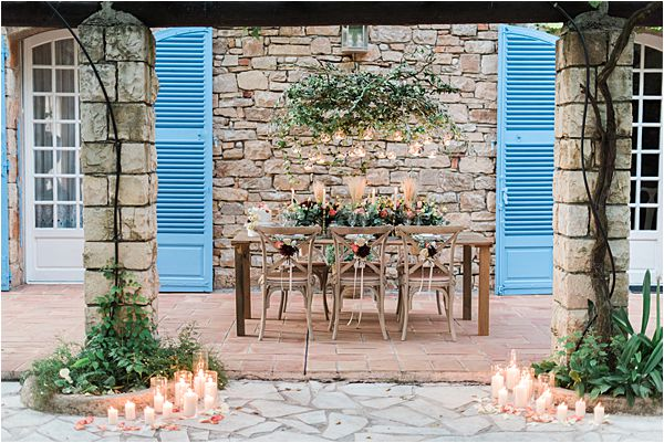 serene place at paradise of birds wedding on French Riviera