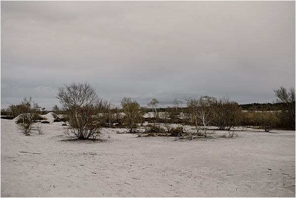 snowy desert at international wedding photography