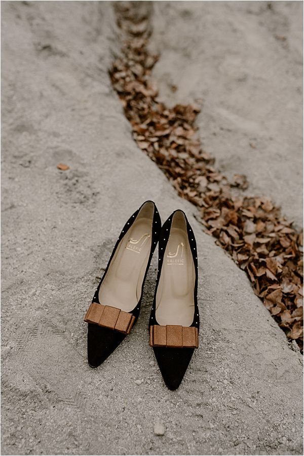 vintage inspired shoes at international wedding photography
