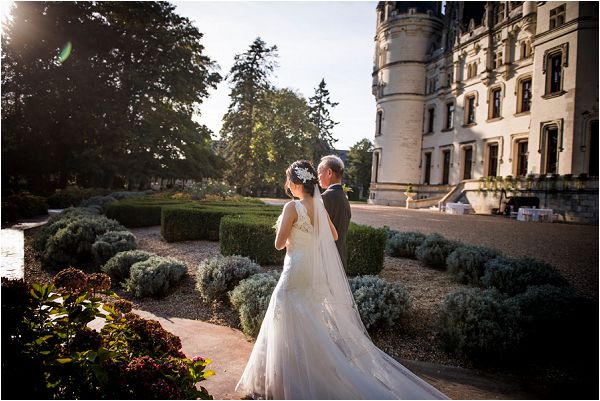 walk down the aisle outside in France by Janis Ratnieks Photography
