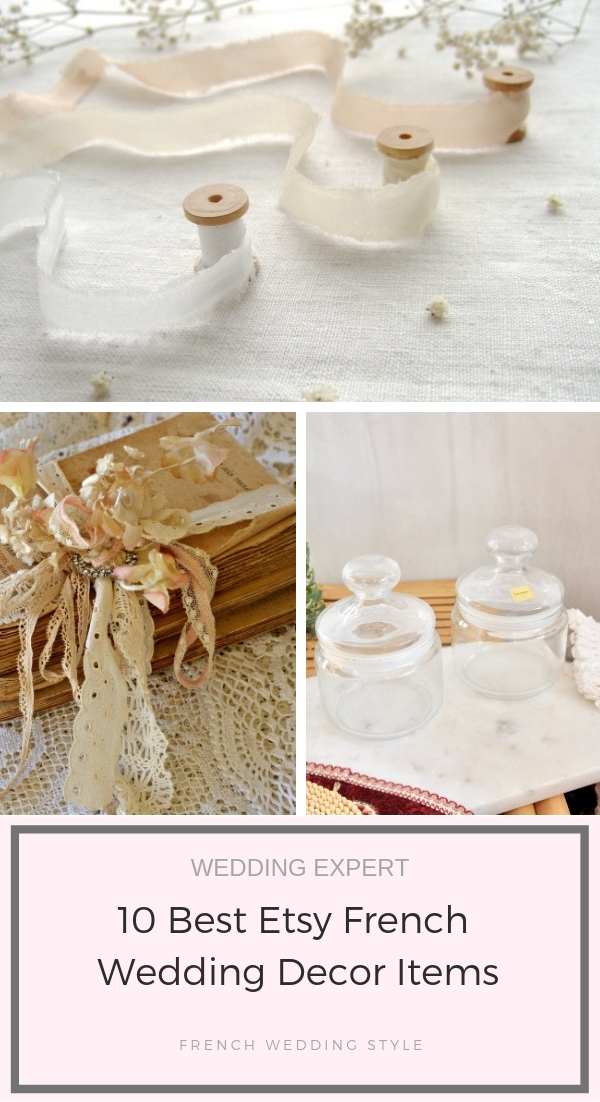 10 Best Etsy French Wedding Decor Items