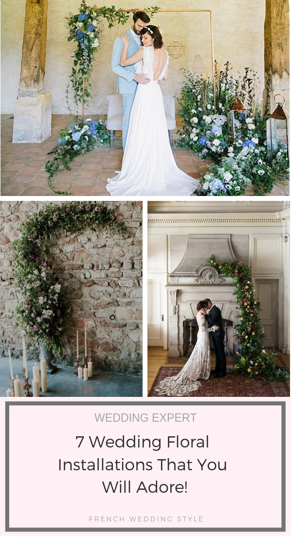 7 Wedding Floral Installations