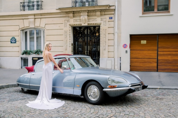 Bridal Gown by Car