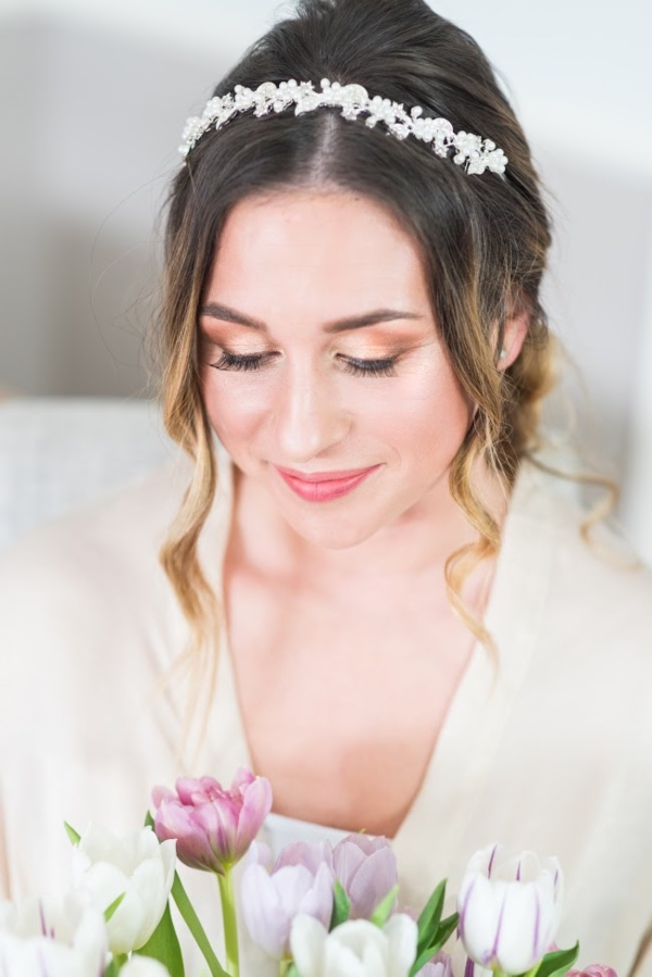 Bridal Hair with Tulips