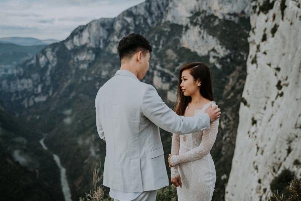 Bride and Groom Emotional