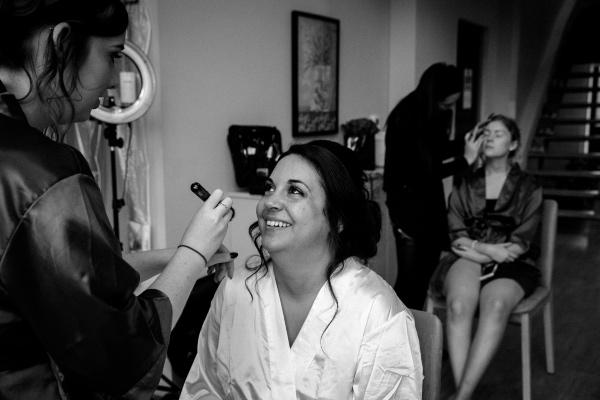 Bride with Bridesmaid Makeup