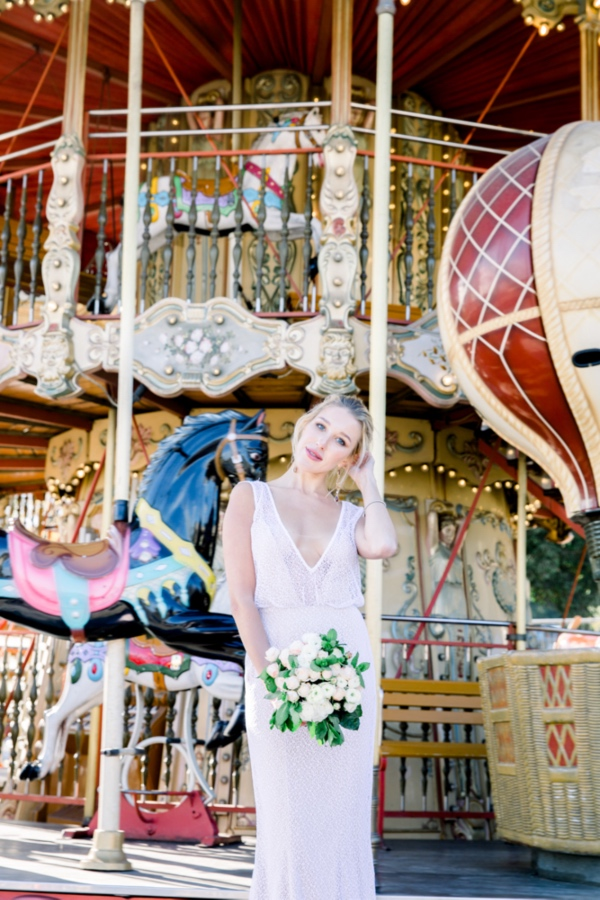 Carousel Bridal Shot