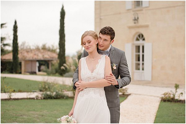 Chic Elegant Wedding Couple