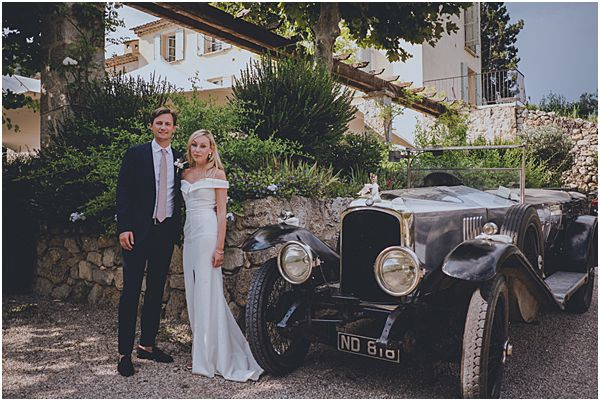 Couple with Vintage French Car