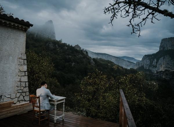 Destination Wedding Groom Mountains