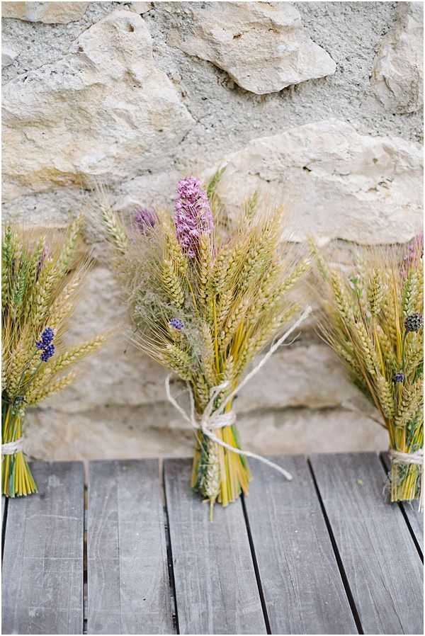 Dried Wheat and Grass Bouquet