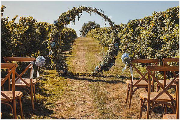 Foliage Arch Ceremony Rustic Setup