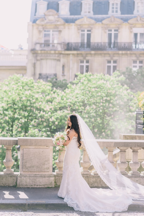 French Bride Lace Veil