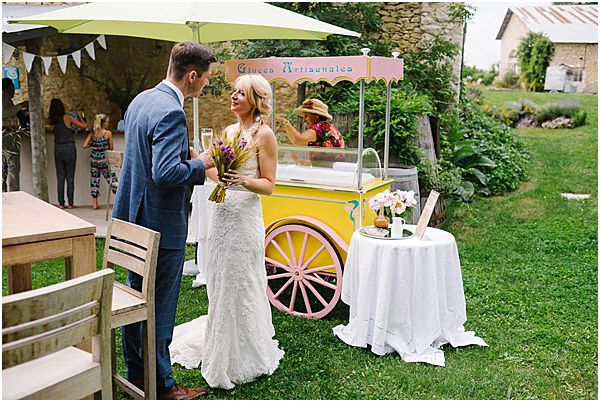 French Ice Cream at Wedding