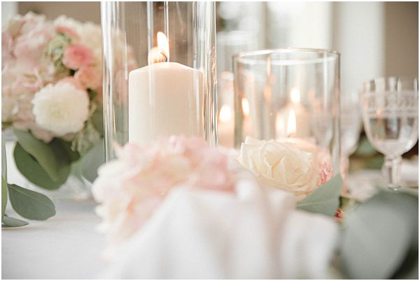 Glass Cylinder Wedding Decor