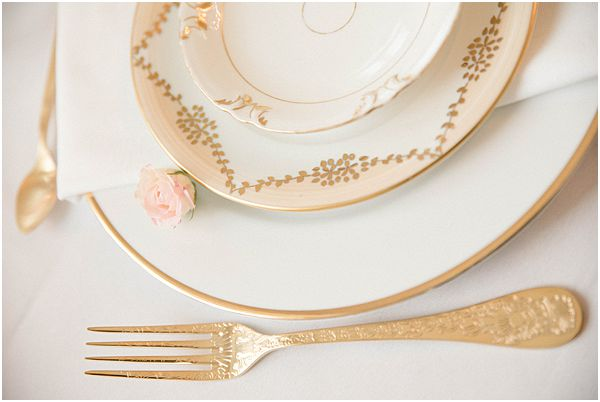 Gold Crockery and Gold Cutlery