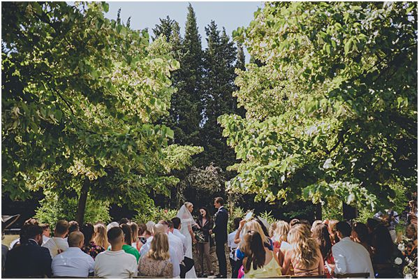 Grasse Provence outdoor ceremony