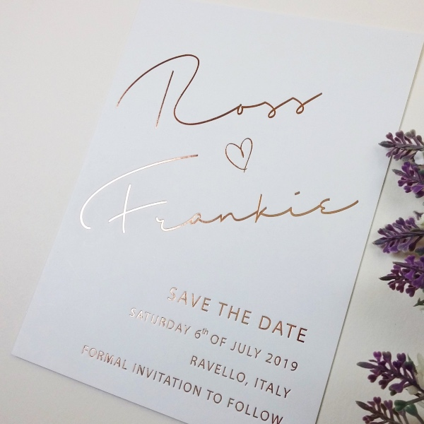 Grey Chic French Save the Date