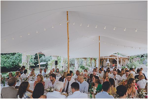 Guests under Marquee