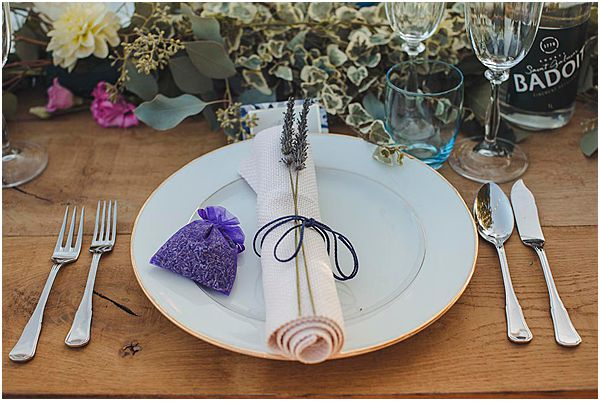 Lavender and Silver Place Setting