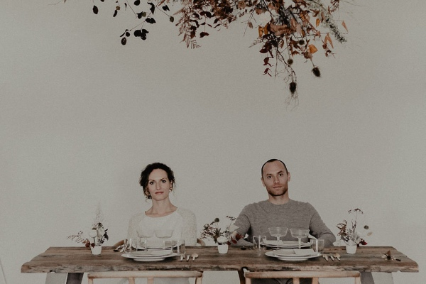 Minimalist Wedding Couple