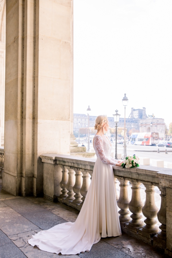 Paris Bride overlooking view